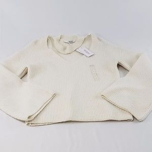 Guess Adele Bell Sleeve Sweater Large